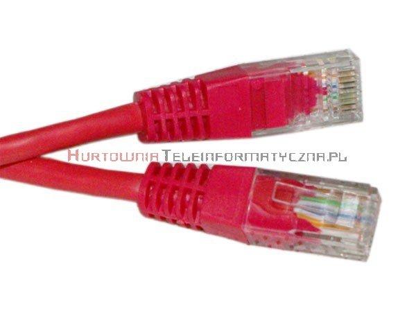 UTP Patch cord 5,0 m. Kat.5e czerwony