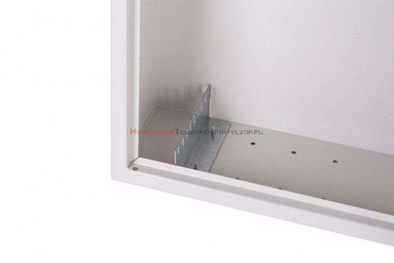 """Sabaj szafa wisząca SIMPLE 19"""" 3Ux555x400 mm, drzwi metalowe, szara"""
