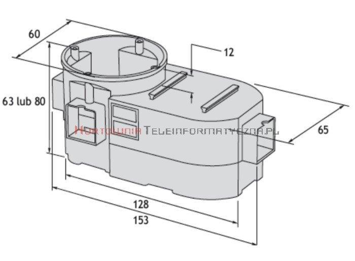 SIMET Puszka podtynkowa szeregowa do elektroniki jednostronna