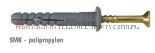 WKRĘT-MET Kołki szybkomontażowe 6x60 z szerokim kołnierzem (200szt)