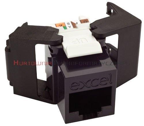 EXCEL keystone kat.6 UTP czarny, Low Profile, beznarzędziowy