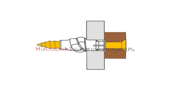 TECHNOX P-TUZ 8/50 Kołki rozporowe plastikowe 8x40 + wkręt 4,0x50 (50szt - torebka foliowa)