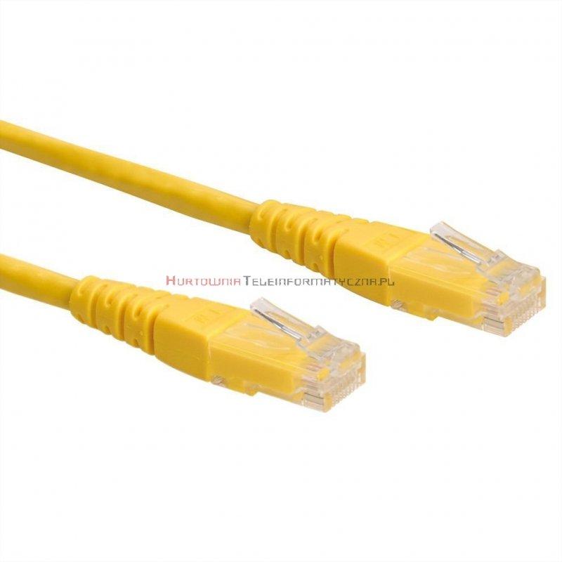 PREMIUM UTP Patch cord 5,0 m. Kat.6 żółty