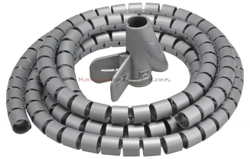 Organizator kabli okrągły spiralny fi25mm / 2m szary