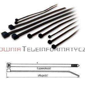 Opaska kablowa czarna UV 4,8x200 (100szt.)