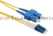 Patch cord światłowodowy SC/UPC-LC/UPC, SM, 9/125, dupleks, 1,0 m