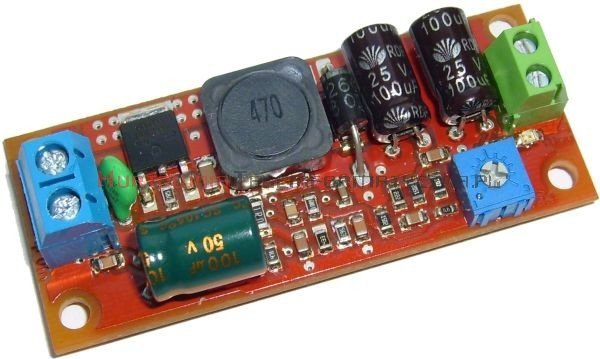 Moduł obniżający napięcie dla jednej kamery 15W, Uwe=32÷50V, Uwy=3,3÷12V