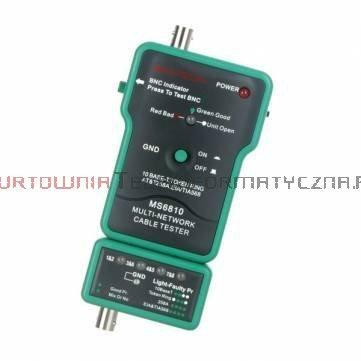 MASTECH MS6810 Tester kabli LAN RJ45, BNC