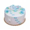 Dekoracja cukrowa na tort STÓPKI chrzest baby shower NIEBIESKIE 10szt