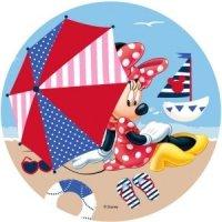 Modecor - opłatek na tort Myszka Minnie na plaży