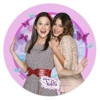 Modecor - opłatek na tort okrągły Violetta 4