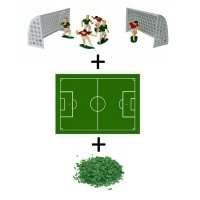 Piłkarski zestaw do dekoracji tortu figurki + opłatek + posypka