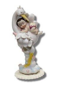 Hokus - Dziewczynka na bocianie - dekoracja na chrzest