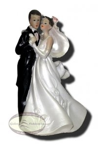 Dekoracja tortu ślubnego Figurka Tańcząca Para Młoda