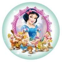 Modecor - opłatek na tort okrągły Królewna Śnieżka i Krasnoludki