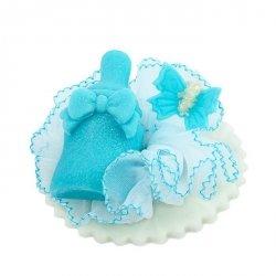 Hokus - BUTELECZKA na tiulu - dekoracja na chrzest dla chłopczyka