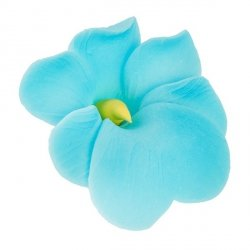 Miltonia kwiat cukrowy na tort 5cm niebieski 1szt
