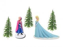 Zestaw do dekoracji tortu FROZEN figurki Elsa Anna