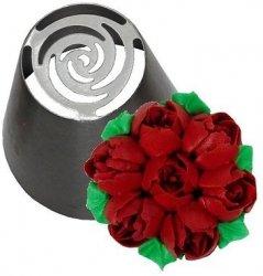 Tylka cukiernicza rosyjska stal nierdzewna BNO13 róża