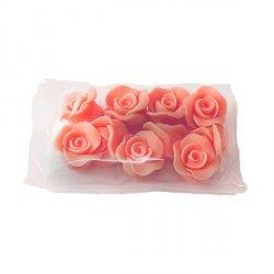 Cukrowe MINI RÓŻE różyczki łososiowe 10szt