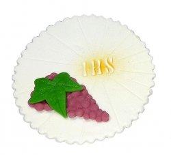 Hostia z winogronem - dekoracja cukrowa