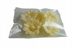 Stokrotka kwiaty cukrowe 5szt ecru