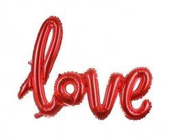 Balon foliowy - love - czerwony 108 x 65,5 cm