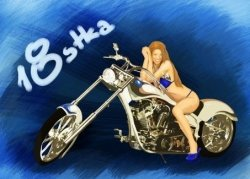 Hokus - Motor Bad Girl opłatek na tort 18-tka