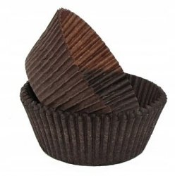 Papilotki foremki na muffinki 45mm brązowe 100szt