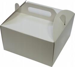 Pudełko kartonowe na tort ciasto z rączką 30x30X11 cm