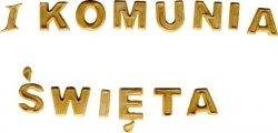 HOKUS - I Komunis Święta - złote literki na tort