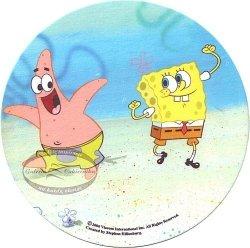 Kardasis - Opłatek na tort okrągły Pan Gąbka Spongebob 50804