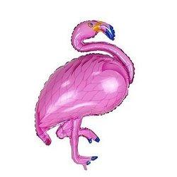 Balon foliowy - Flaming - różowy 46 x 87 cm