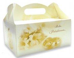 Ozdobne pudełko na ciasto weselne 10 szt. gold
