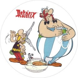 Kardasis - opłatek na tort okrągły Asterix