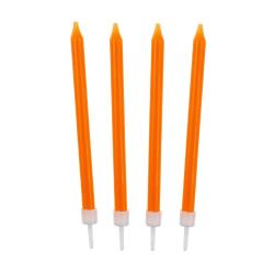 Świeczki urodzinowe gładkie POMARAŃCZOWE 8,6cm (10 szt)