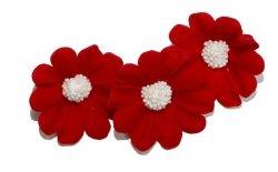 Stokrotka kwiaty cukrowe 5szt czerwone