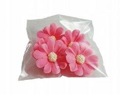 Stokrotka kwiaty cukrowe 5szt różowe