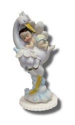 Hokus - Chłopczyk na bocianie - dekoracja na chrzest