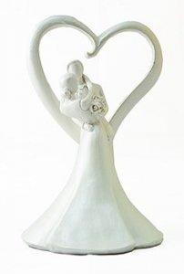 Figurka na tort ślub PARA MŁODA z sercem