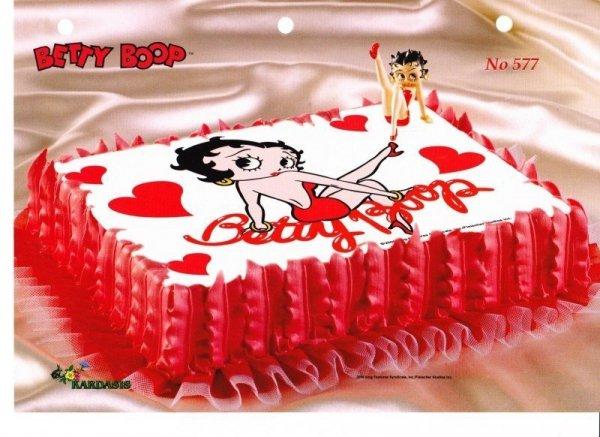 Kardasis - zestaw do dekoracji tortu BETTY BOOP II