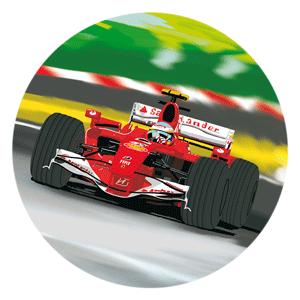 Modecor - opłatek na tort Ferrari II