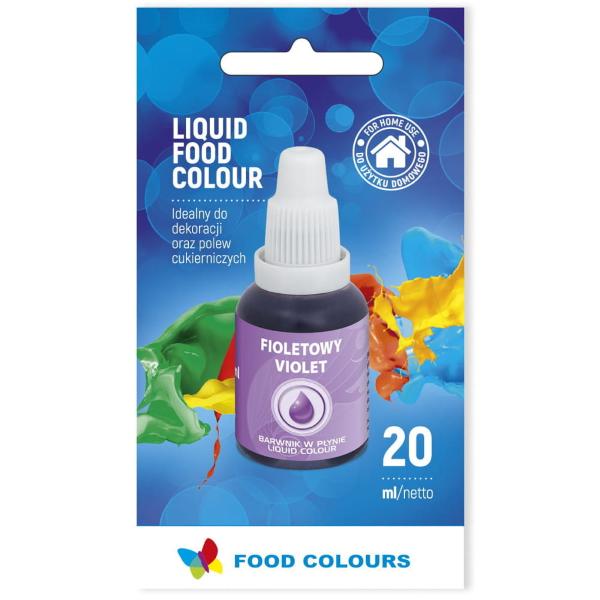 Barwnik spożywczy w płynie FIOLETOWY 20ml - Food Colours