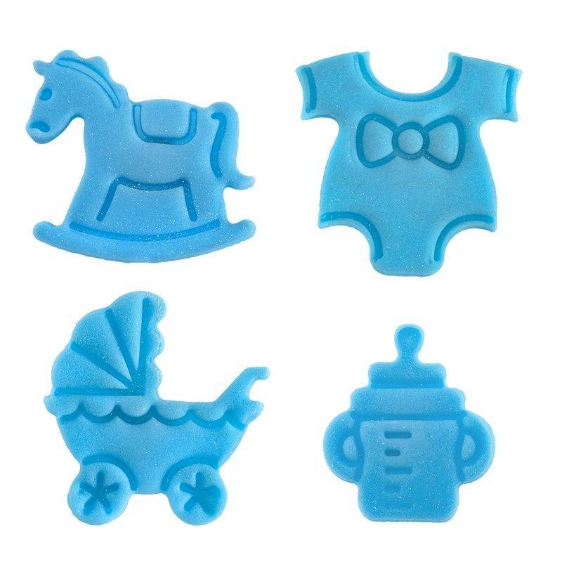 Hokus - Dekorcja cukrowa CHRZEST- niebieski