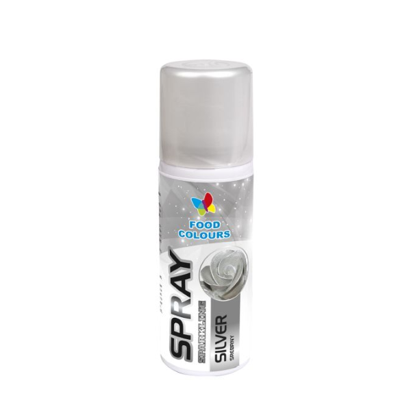 Barwnik spożywczy w sprayu SREBRNY 50ml - Food Colours