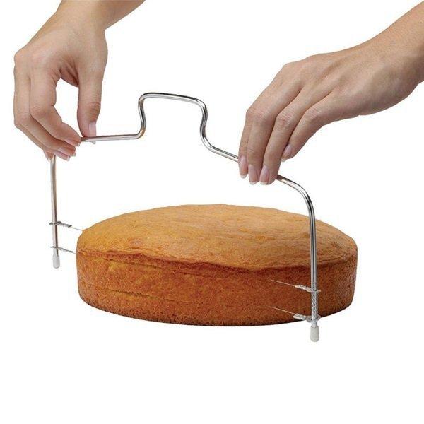 Nóż strunowy STRUNA do cięcia ciasta BISZKOPTU tortu 30 cm