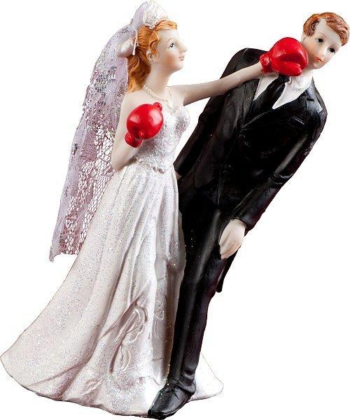 Figurka na tort ślub PARA MŁODA boks