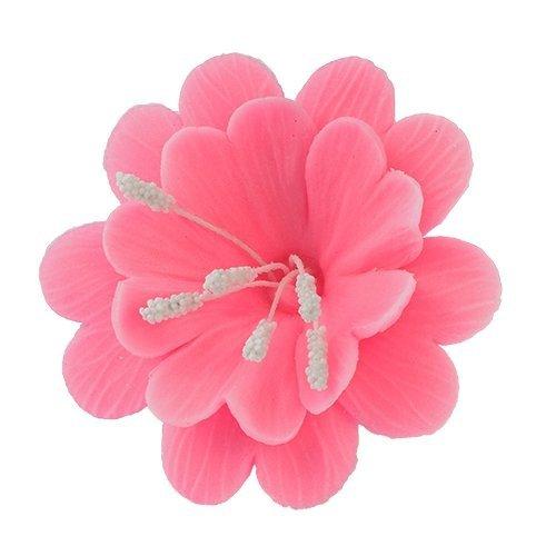 FUKSJA kwiat cukrowy na tort 6,5cm RÓŻOWY 8szt