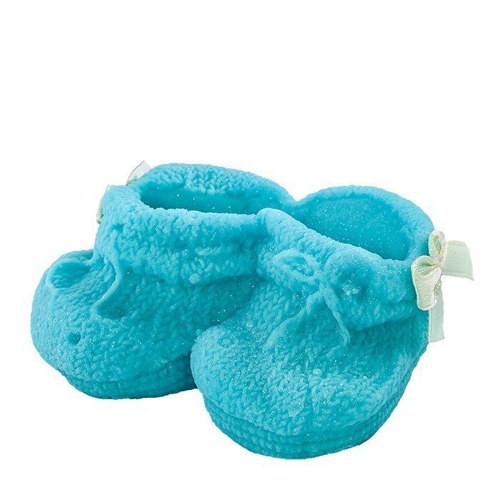 Hokus - Buciki niebieskie - dekoracja tortu na chrzest