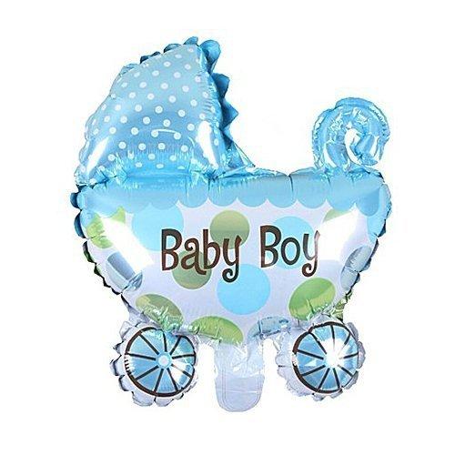 Balon foliowy - wózek BABY BOY - niebieski 72 x 78 cm